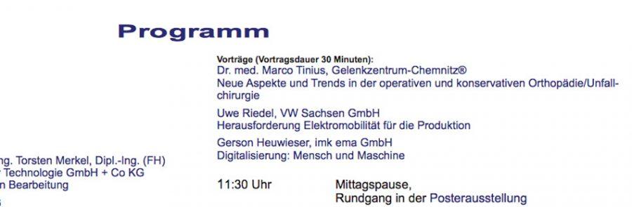 Dr.Marco Tinius hält Initialvortrag zur Eröffnung des Innovativsymposiums an der westsächsischen Hochschule